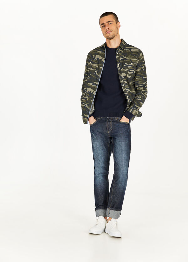 Cotton casual camouflage shirt