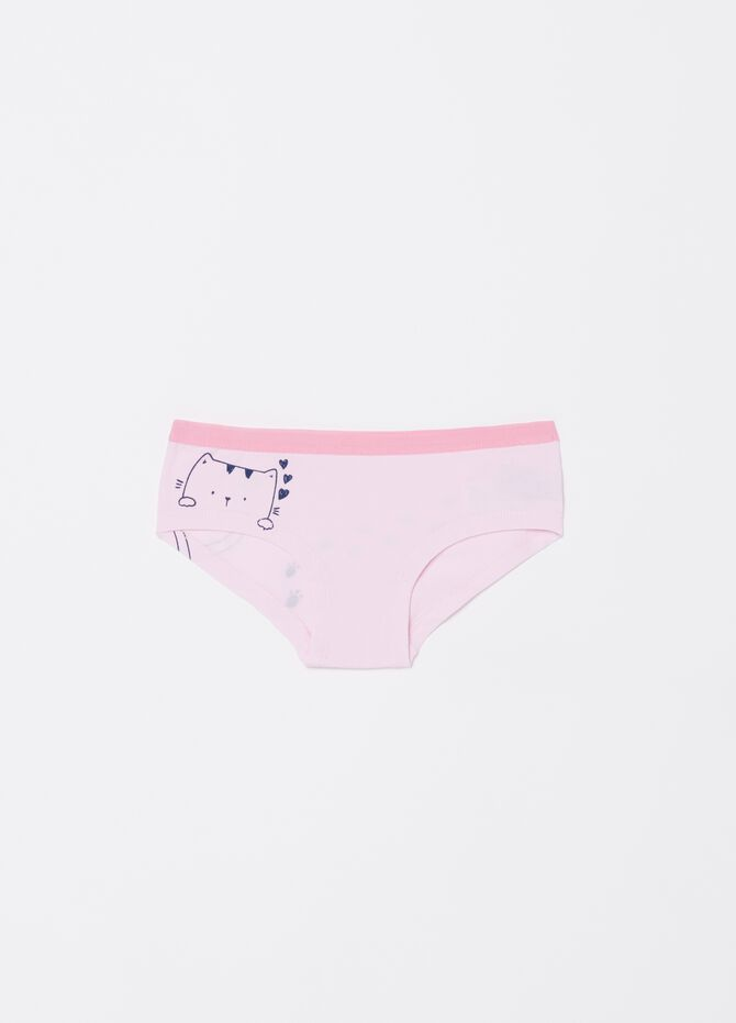 Stretch Biocotton French knickers with contrasting edging
