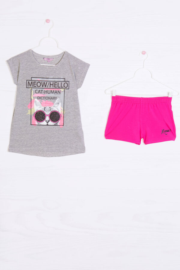 Stretch cotton outfit with print   OVS