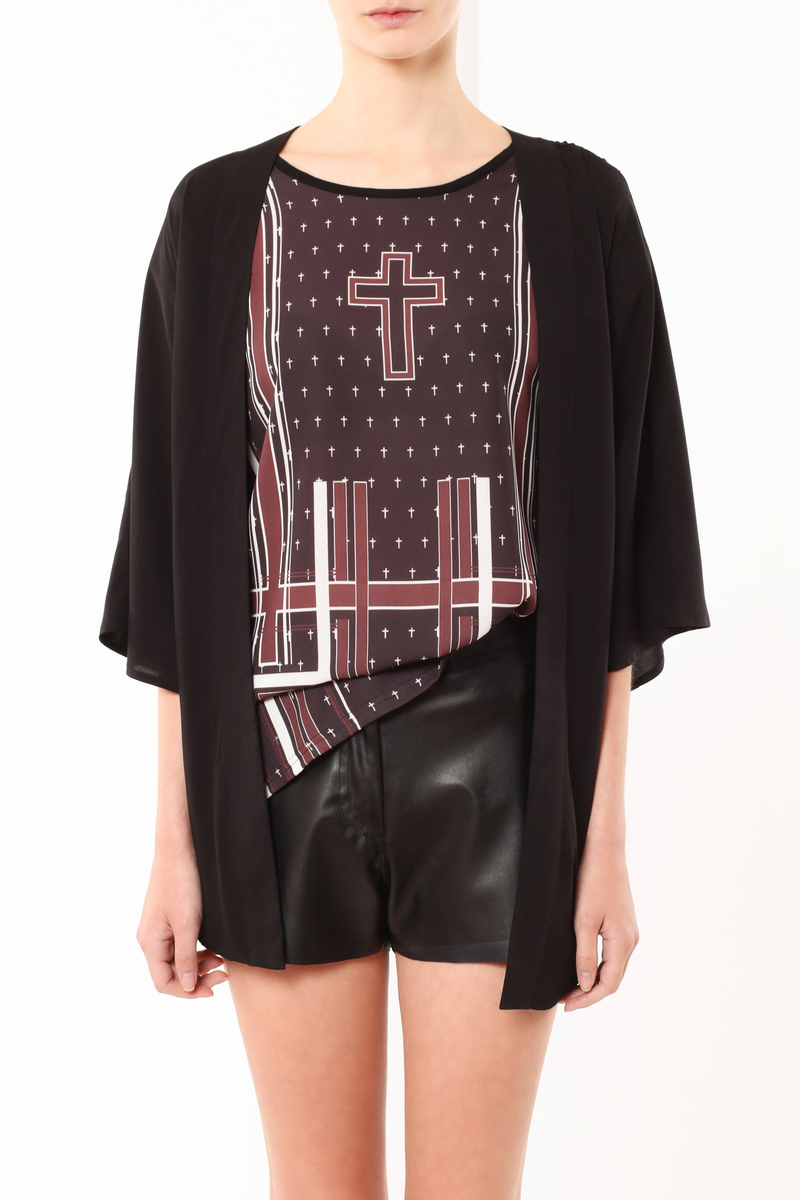 Cardigan con pizzo image number null