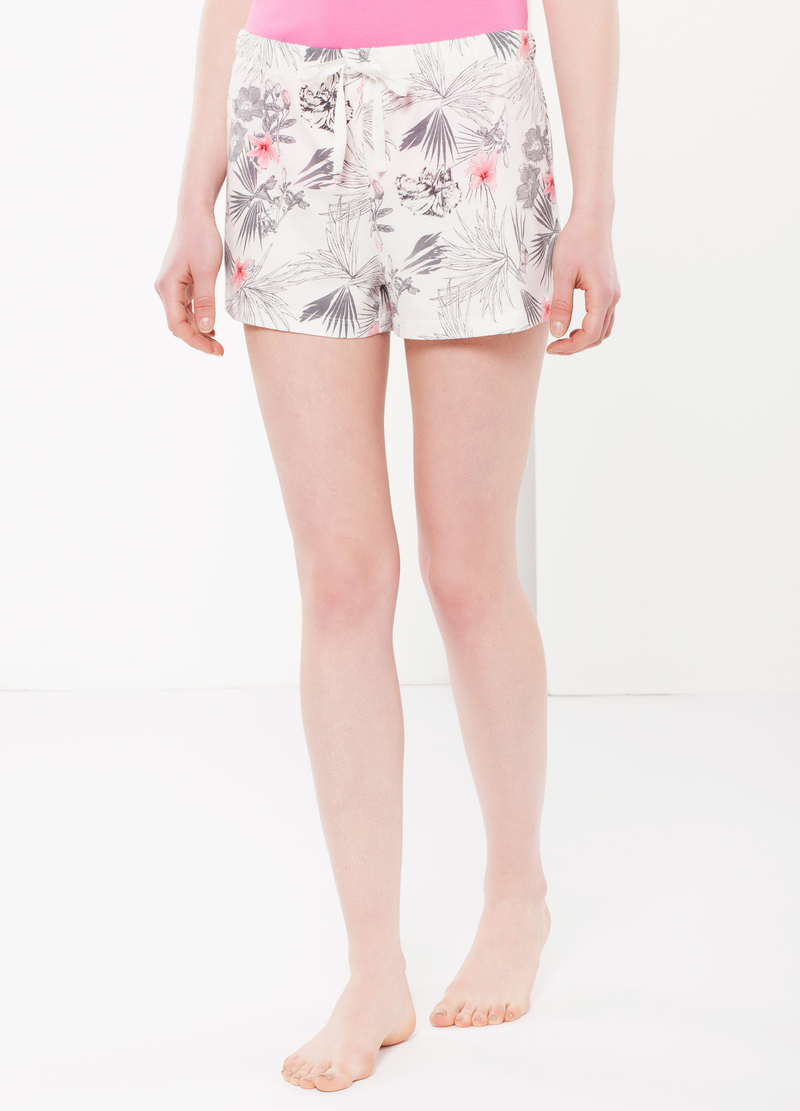 Floral sleep shorts image number null