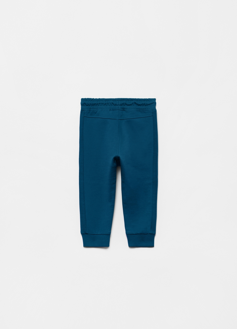100% organic cotton joggers with striped insert image number null