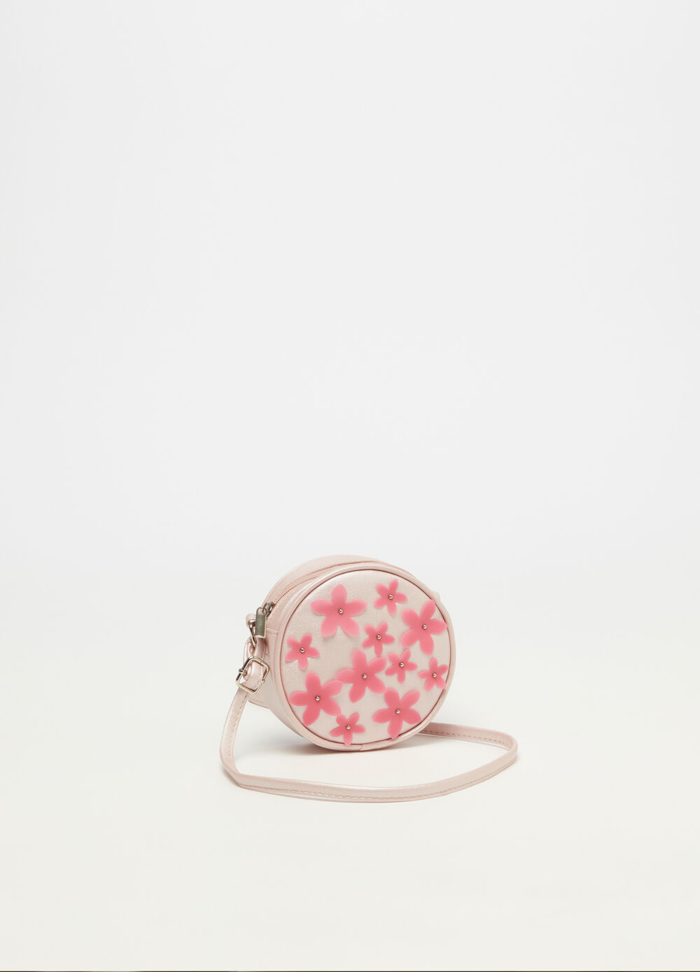 Shoulder bag with flowers