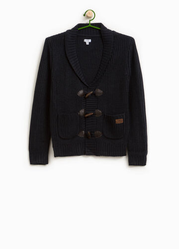Knitted cardigan with toggles