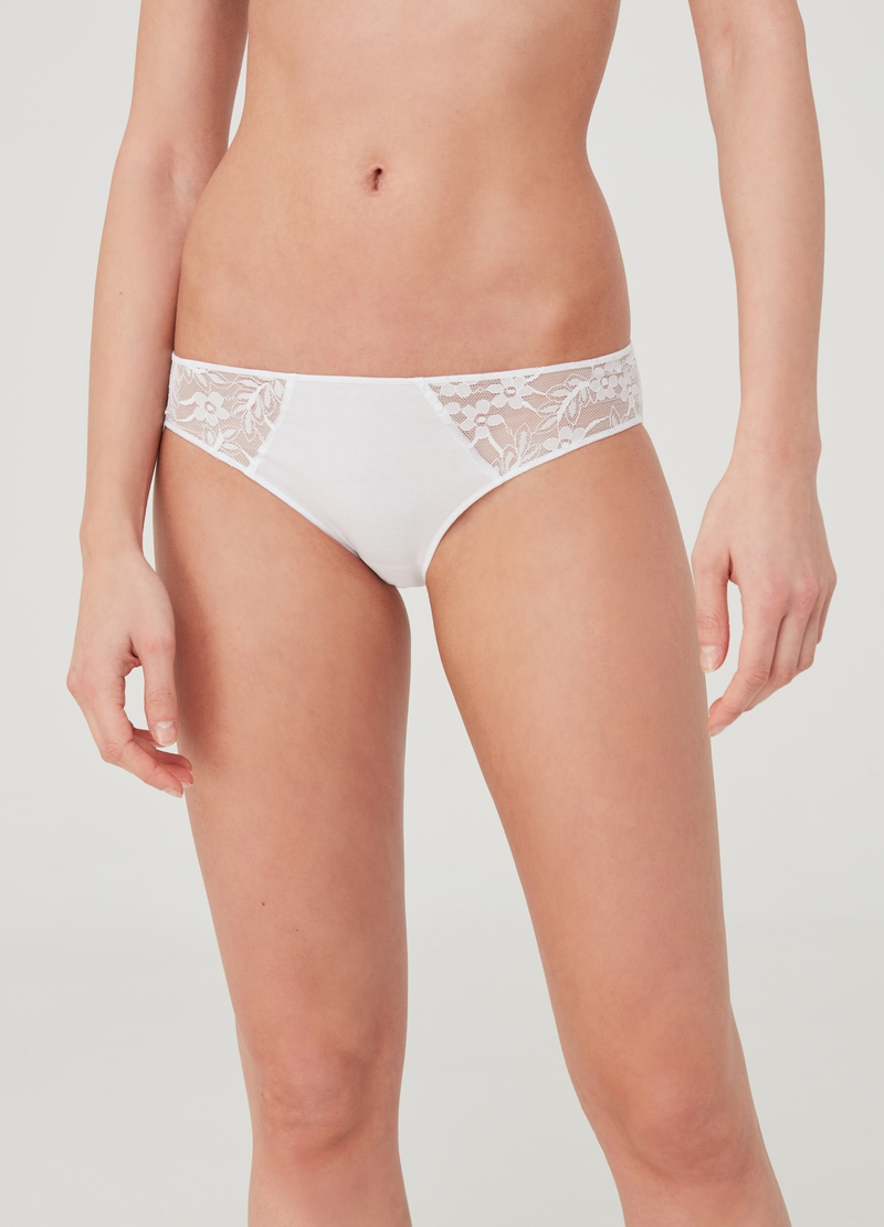 Bipack slip classico con pizzo image number null