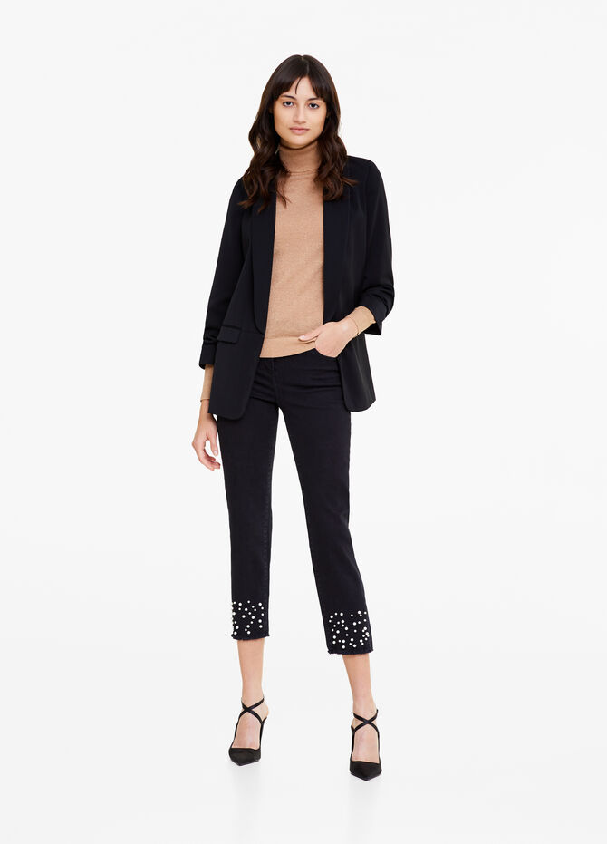 Blazer with three-quarter sleeves