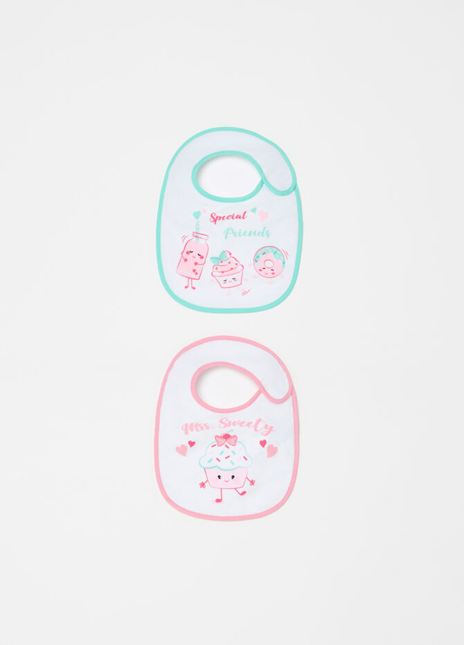 Two-pack waterproof fabric bibs