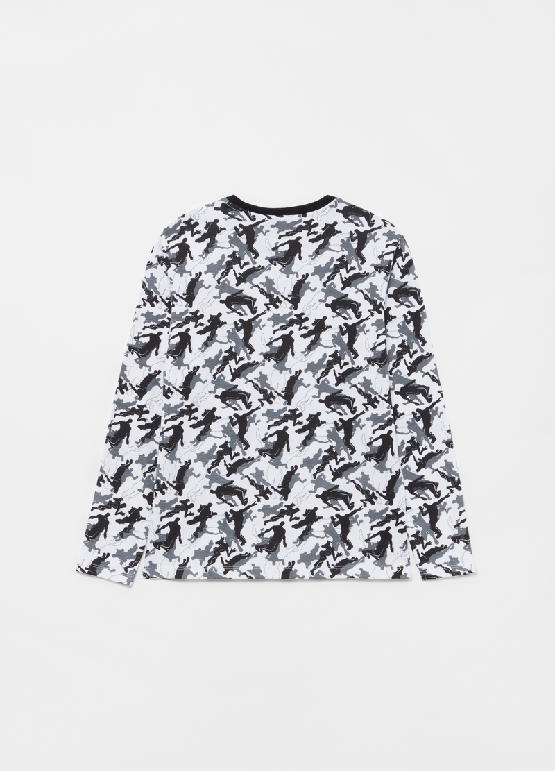 100% cotton T-shirt with all-over Fortnite print image number null