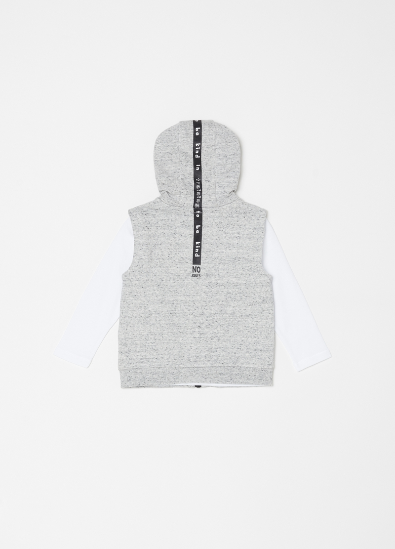Long-sleeved T-shirt and gilet set with print image number null