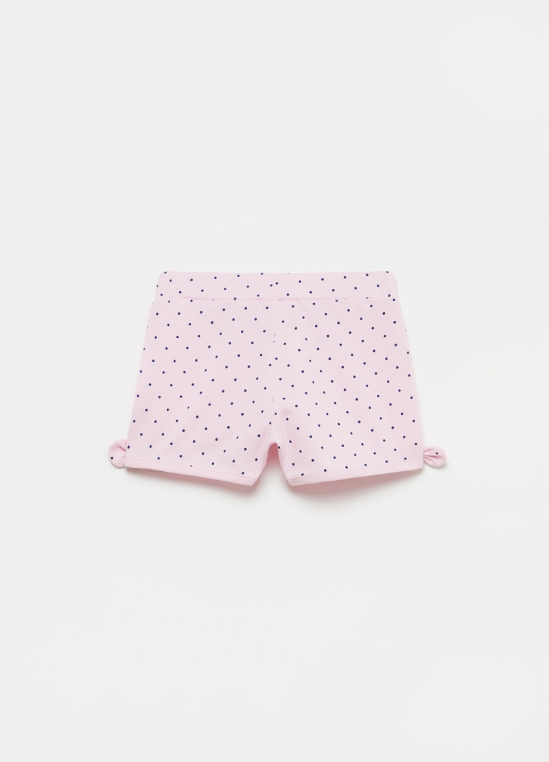Polka dot shorts with bows image number null