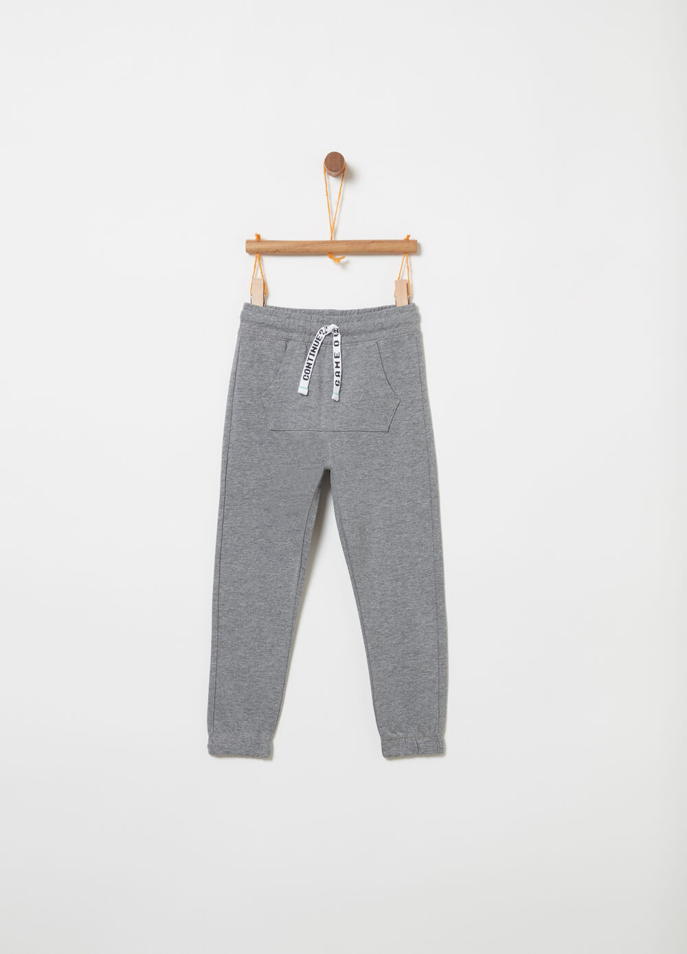 Lightweight fleece trousers with drawstring