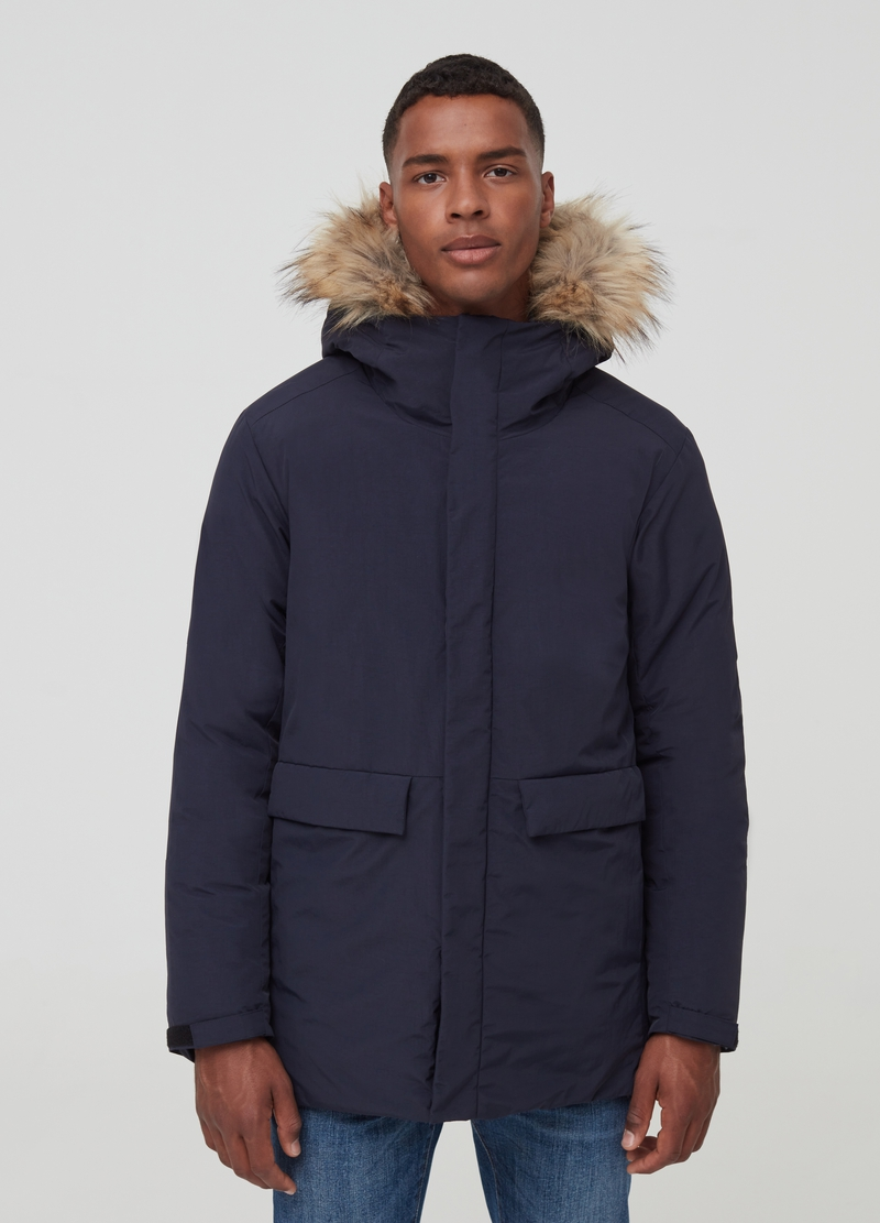 Padded jacket with hood image number null