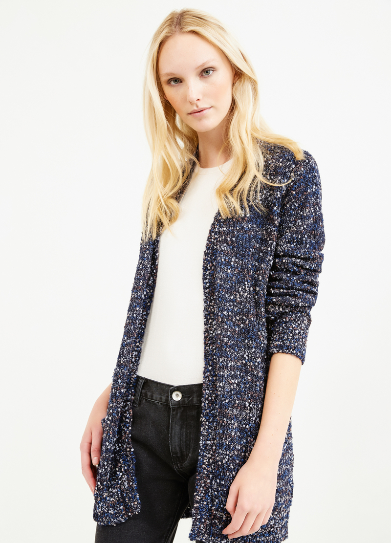 Long cardigan with pockets image number null