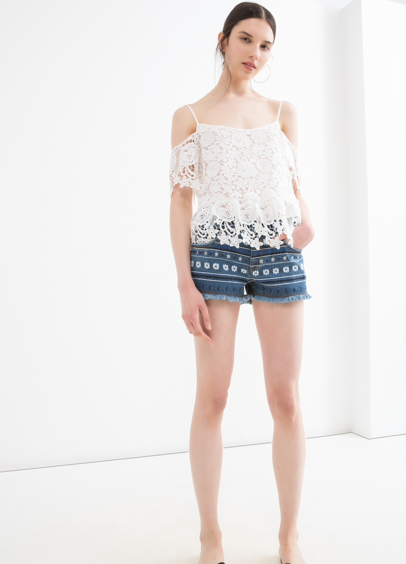 Shorts di jeans fantasia image number null
