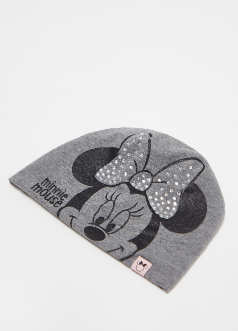 Berretto in jersey con strass Disney Minnie image number null