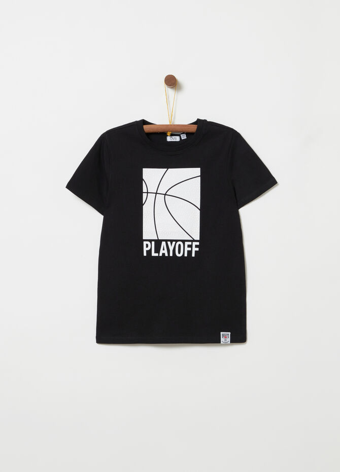 T-shirt with basketball rubber print