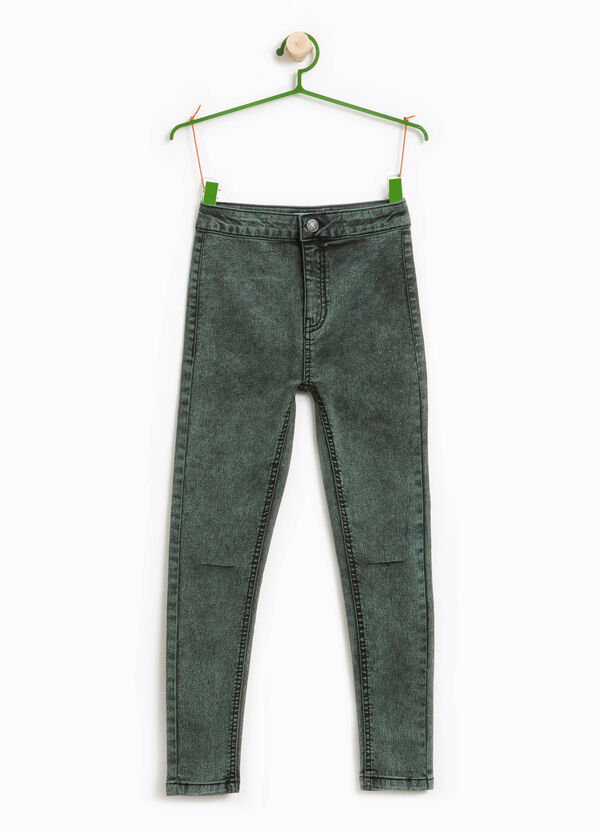 Mis-dyed, stretch skinny-fit jeans | OVS