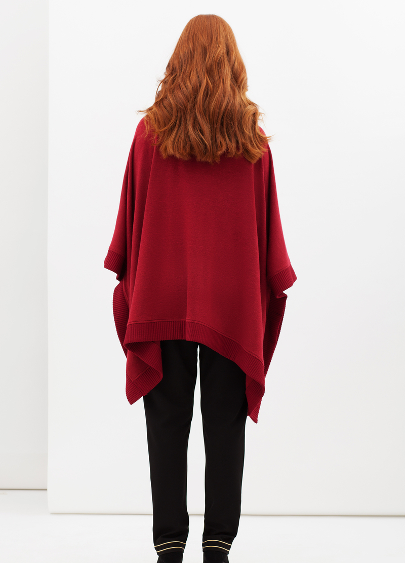 Curvyglam stretch poncho with high neck image number null