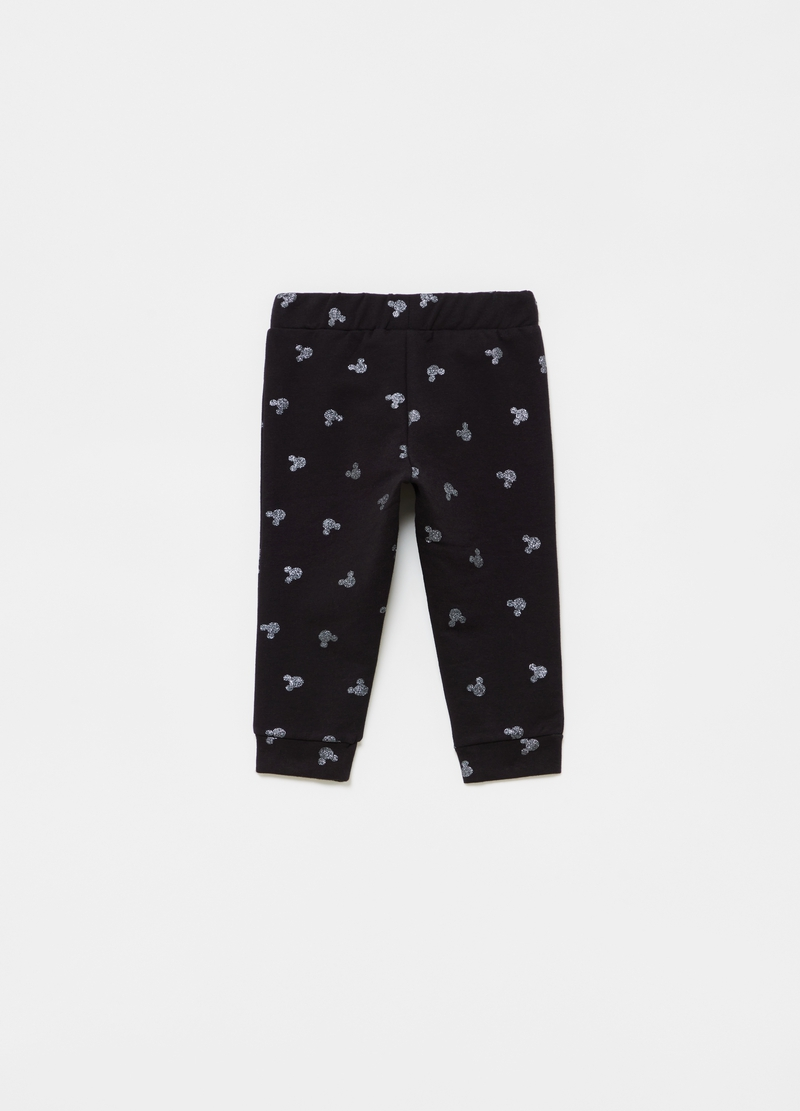 Joggers cotone bio stretch stampa Disney all-over image number null
