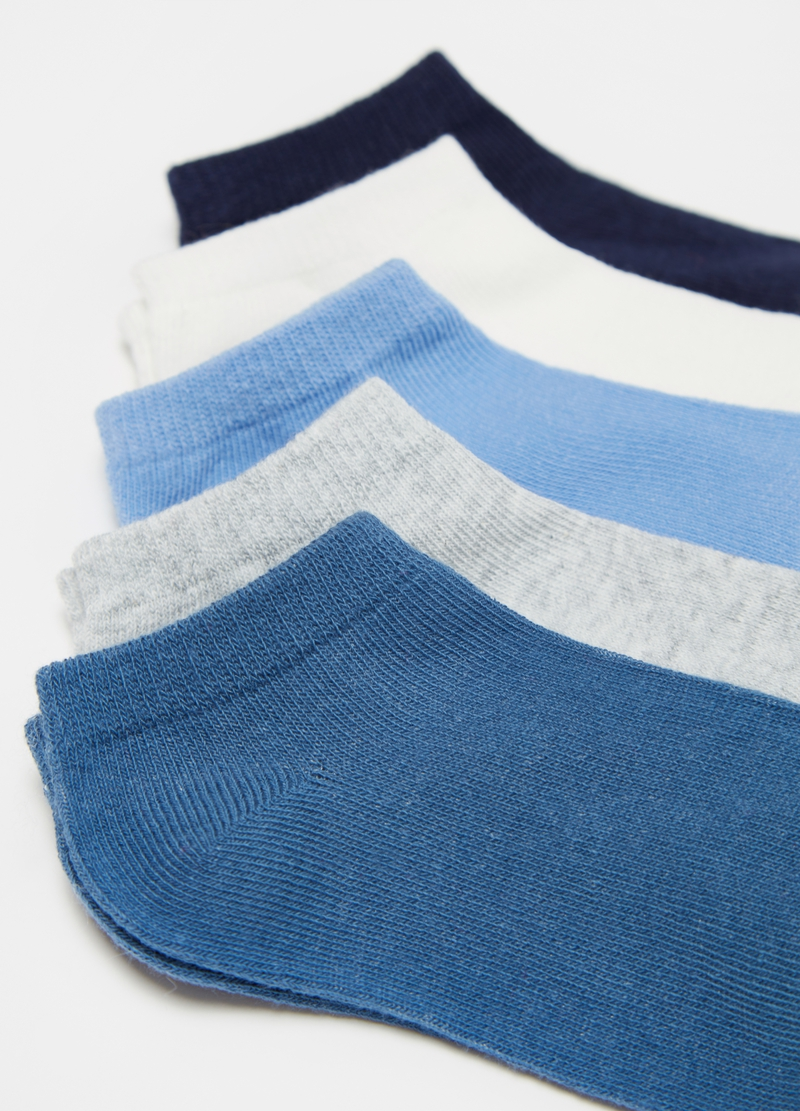 Five-pair pack stretch shoe liners image number null
