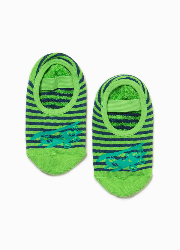 Striped slipper socks with embroidery | OVS