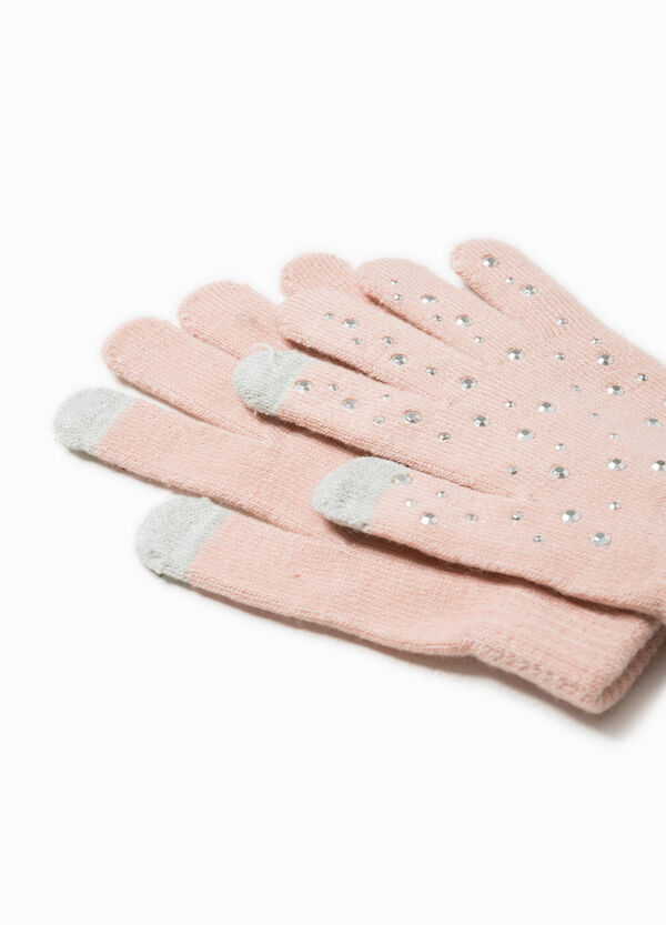 Solid colour gloves with studs | OVS