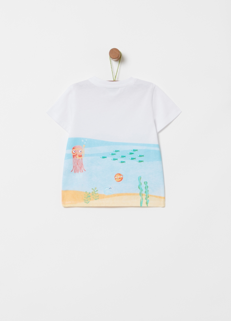 T-shirt with fish print image number null