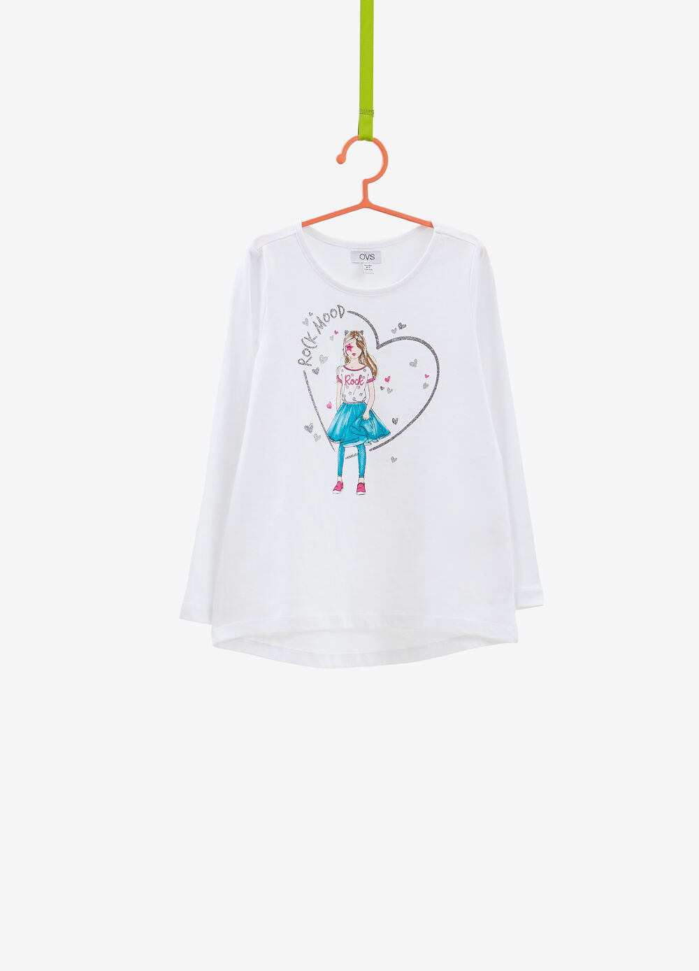 Cotton T-shirt with girl print
