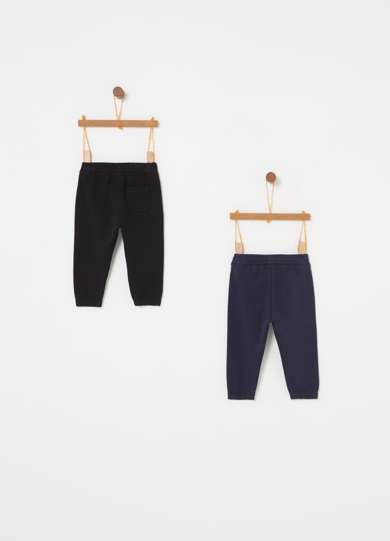 Two-pack trousers in 100% cotton image number null