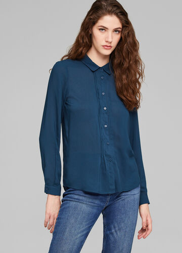 100% viscose shirt with pleating