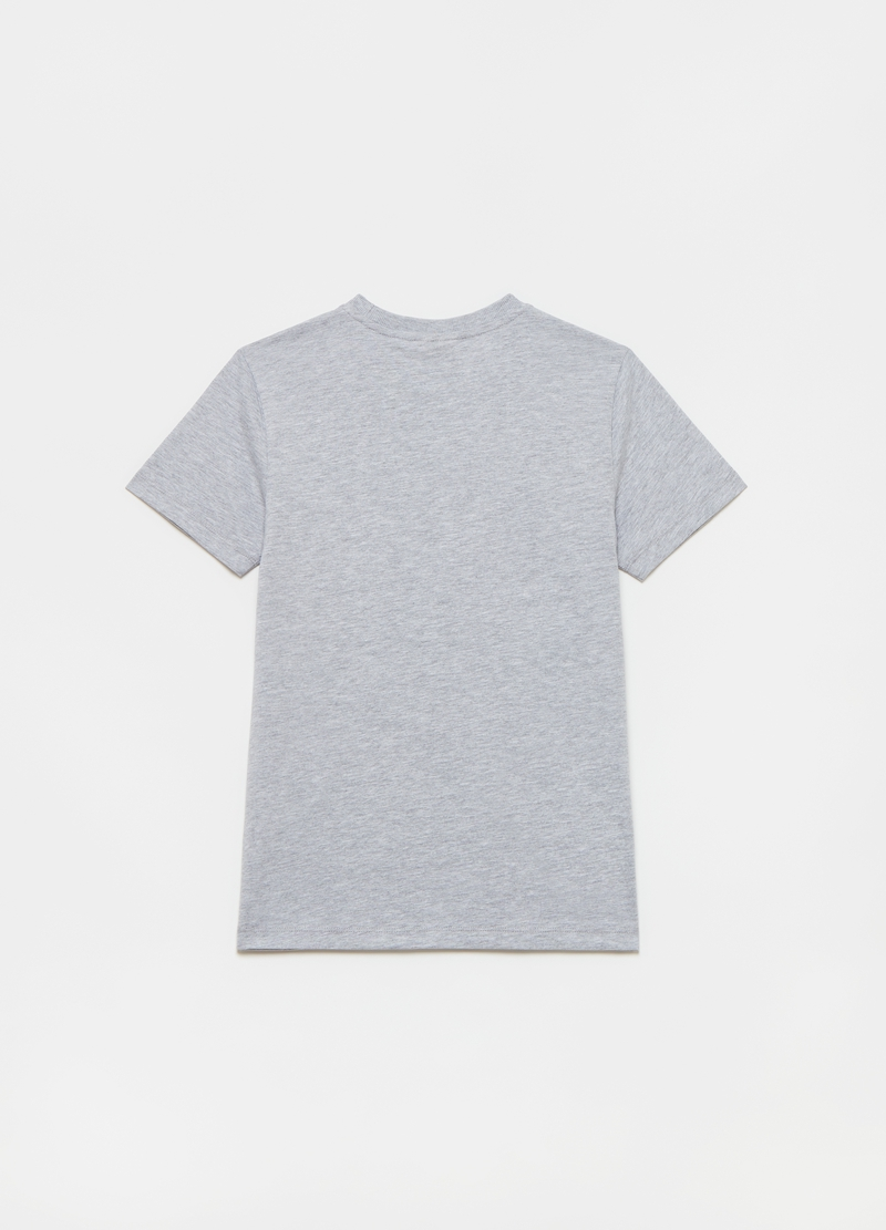Viscose and cotton mélange T-shirt with print image number null