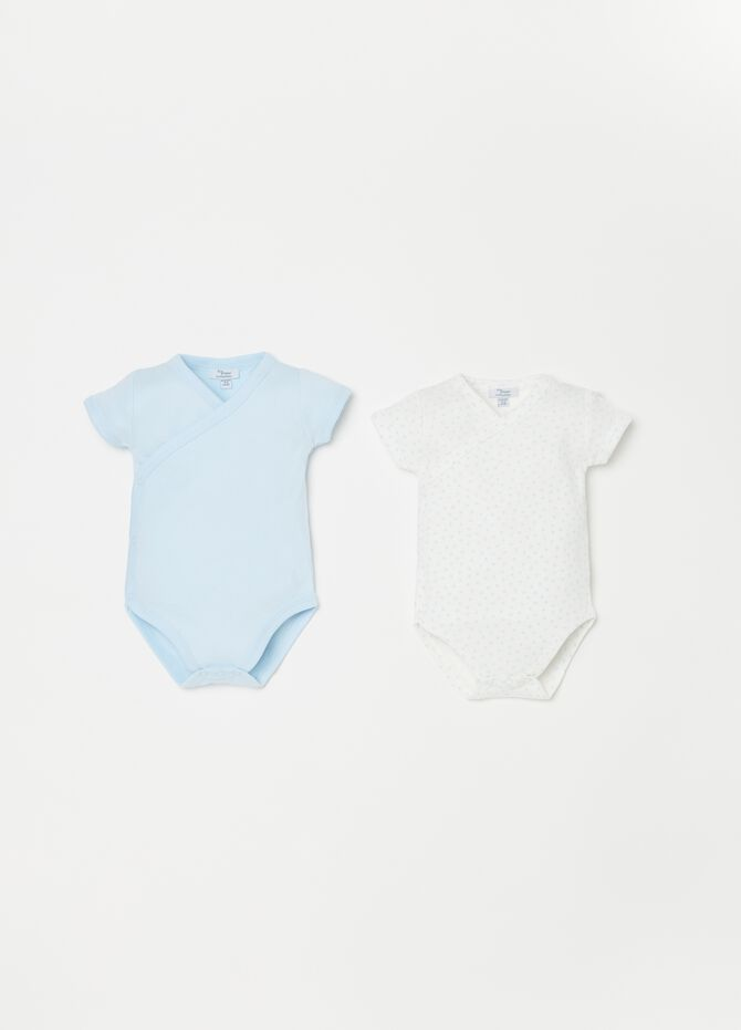 Set due body biocotton maniche corte