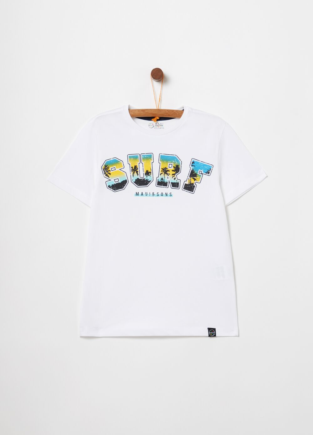 Surf print T-shirt by Maui and Sons