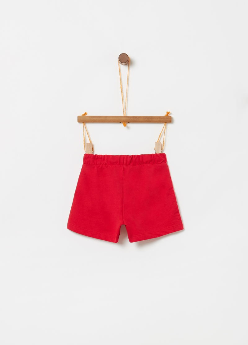 Shorts in cotone con coulisse e stampa image number null