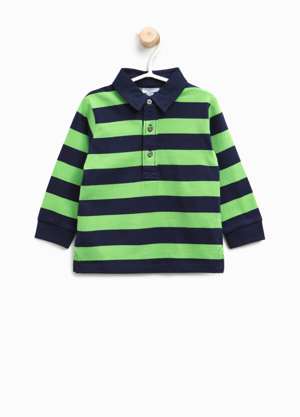 100% cotton striped polo shirt | OVS