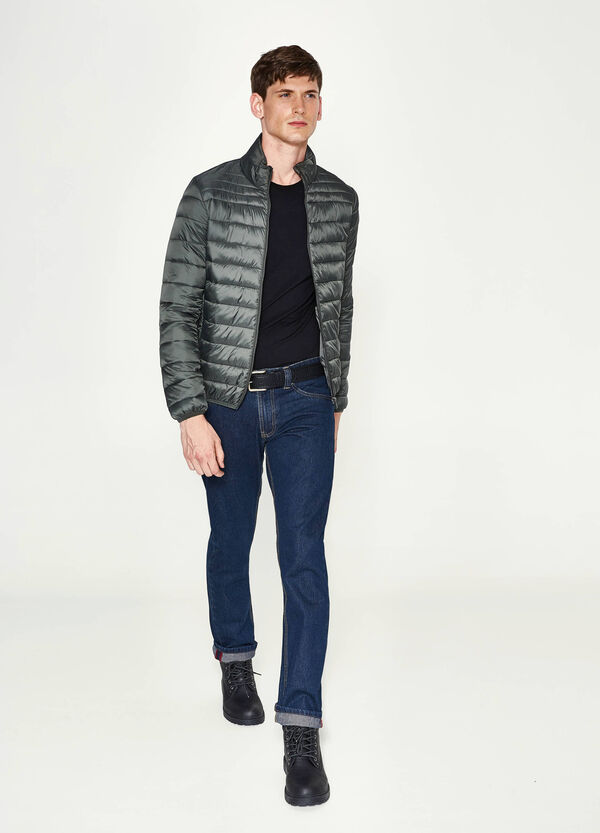 Solid colour down jacket with high neck | OVS