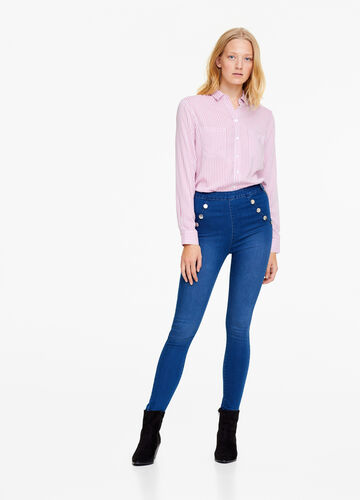 Super skinny-fit jeans with buttons