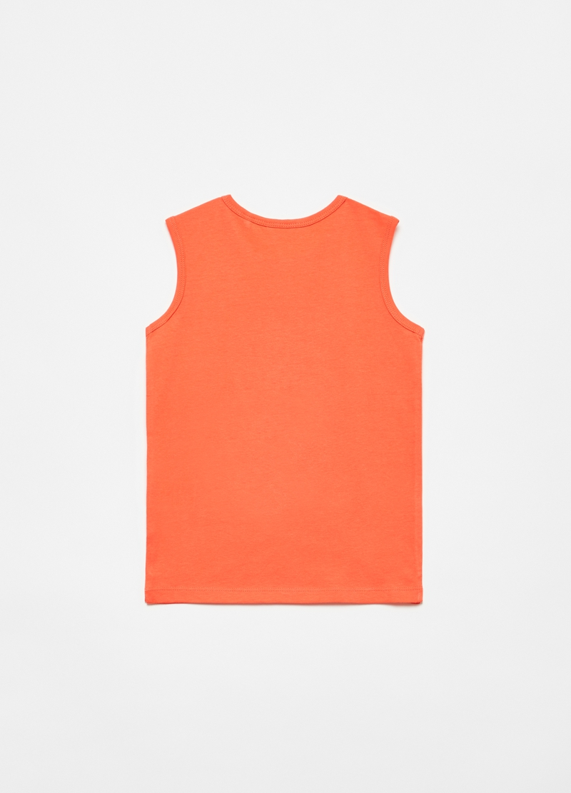 Tank top with seal on skateboard print image number null