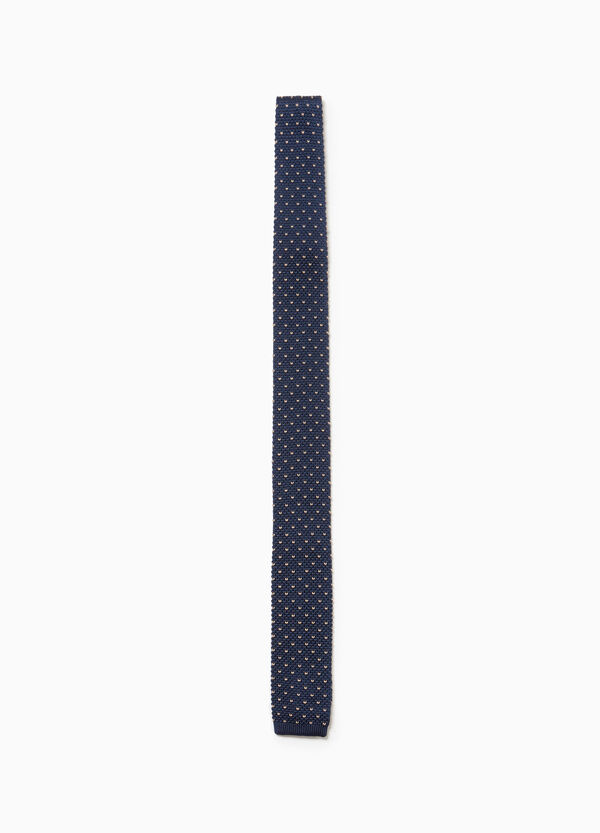 Polka dot knitted tie