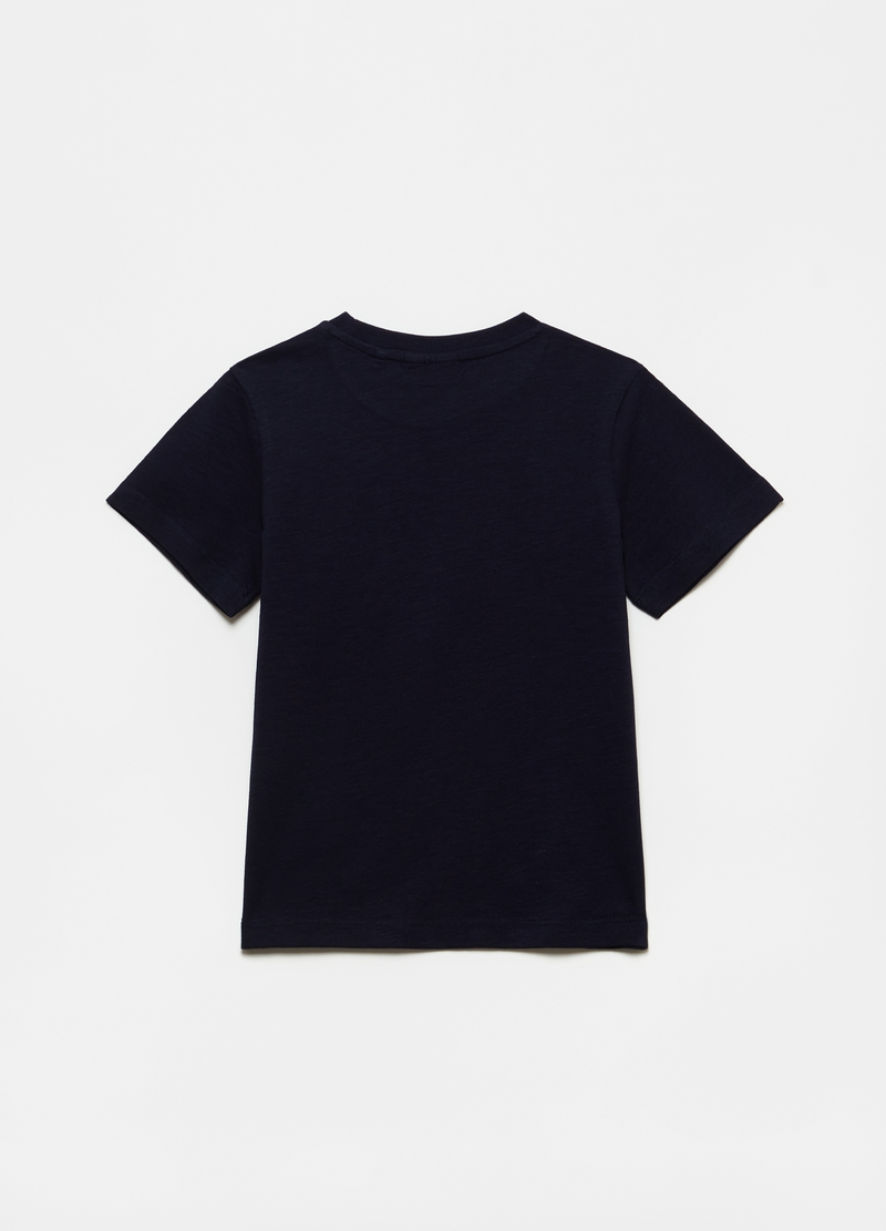 T-shirt puro cotone con taschino image number null