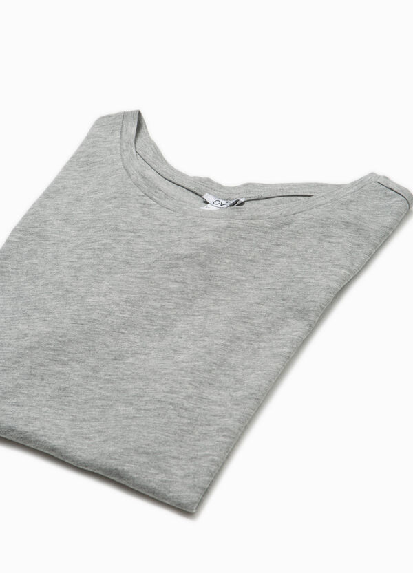 100% cotton T-shirt with printed straps