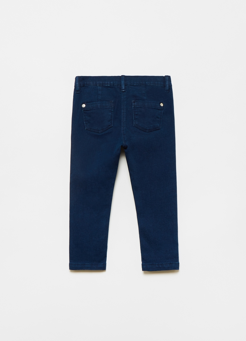 Jeans stretch con fiocchetti image number null
