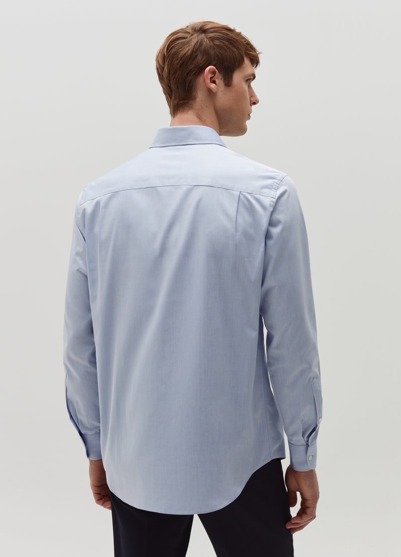 Slim-fit shirt with cutaway collar image number null