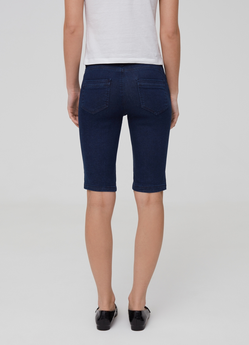 Stretch denim Bermuda shorts image number null