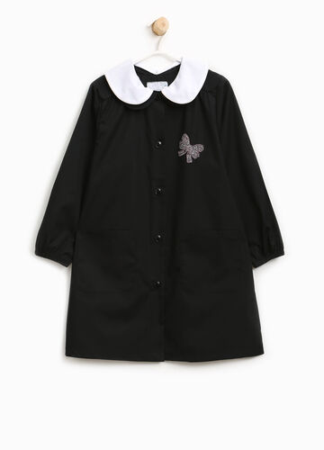 Smock with double collar and diamantés