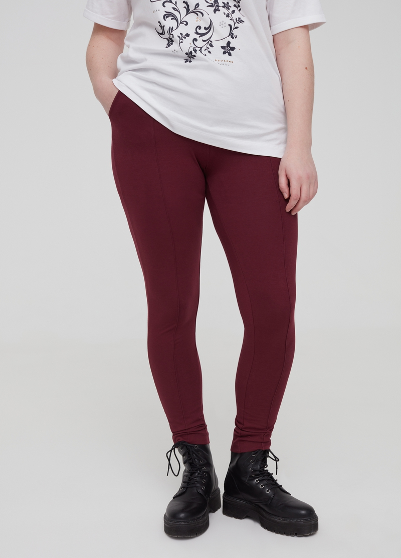 Curvy stretch organic cotton leggings image number null