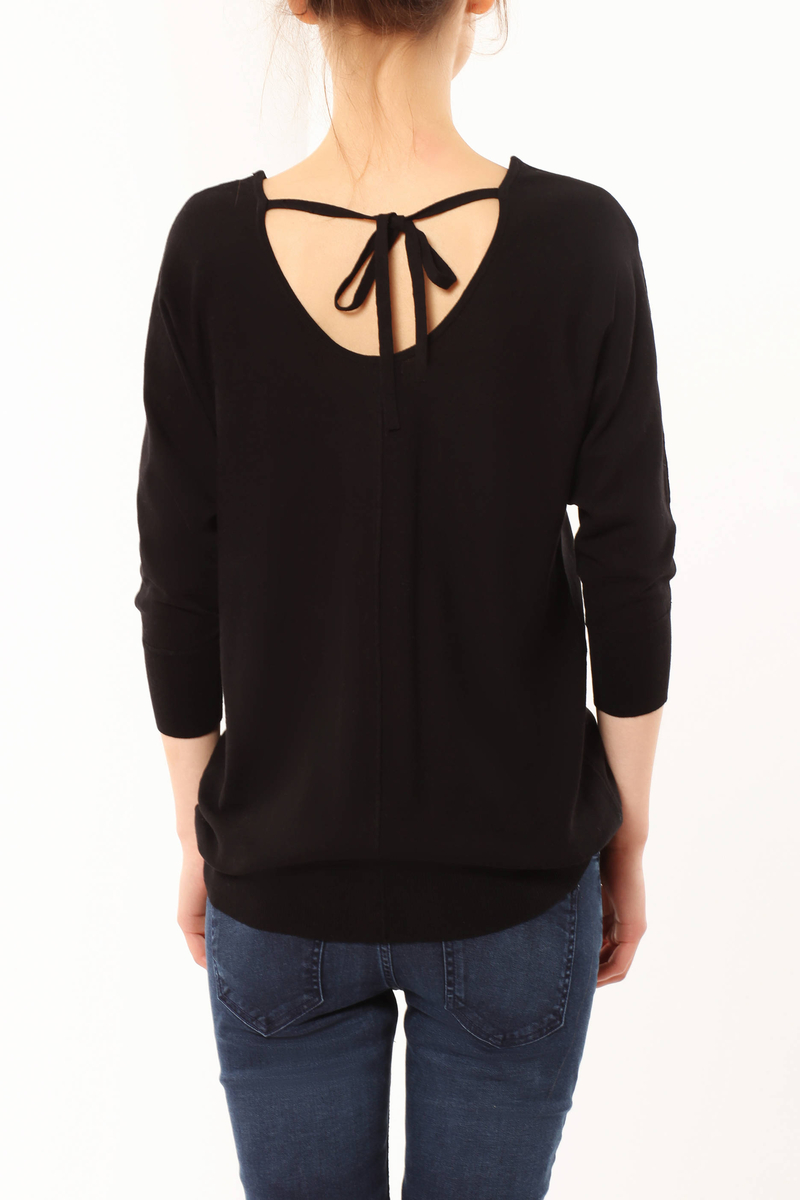 Drawstring sweater image number null