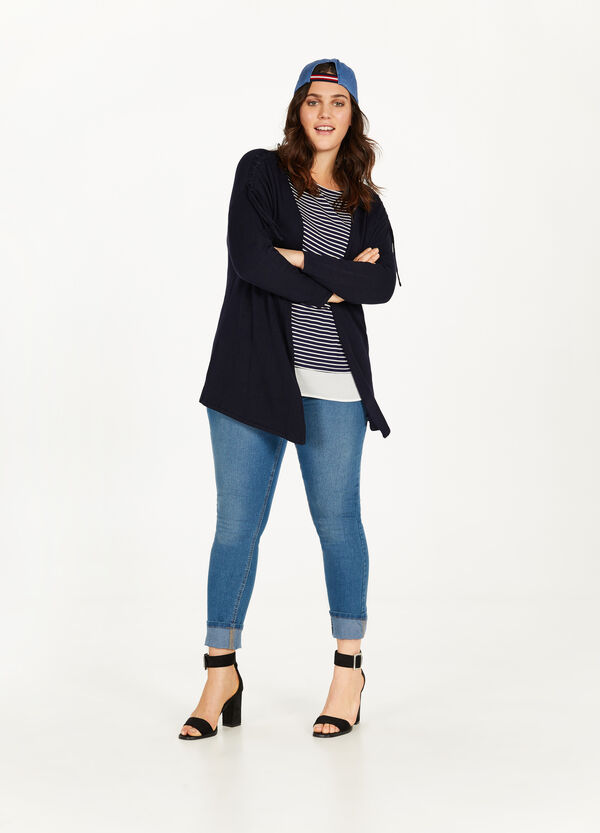 Cardigan misto viscosa stretch Curvy