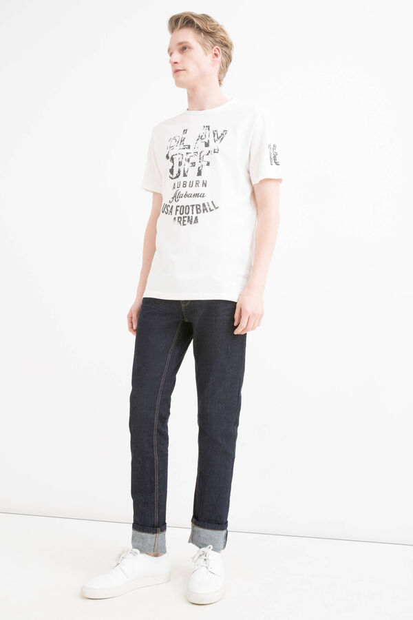 T-shirt cotone stampa lettering | OVS