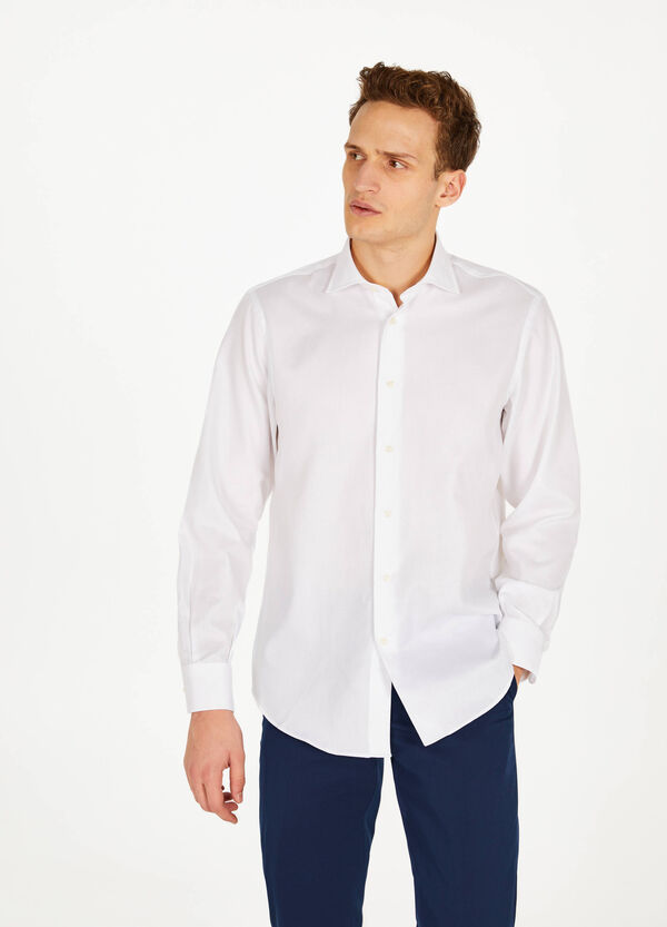 Regular-fit formal shirt in 100% cotton